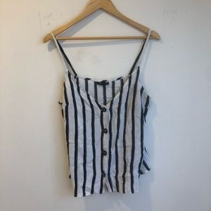 Topshop striped blue and white cami